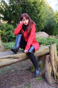 Tall Black Rubber Riding Boots